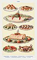 Fish III- Oyster Patties, Boiled Turbot, Fried Whitebait, Mackerel, Mayonnaise of Salmon, Lobster, and Crab from Mrs. Beeton& -39;s Book of Household Management. Digitally enhanced from our own 1923 edition.jpg