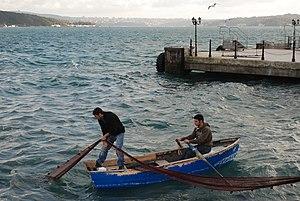 Sarıyer - Fishermen in Sarıyer's harbour