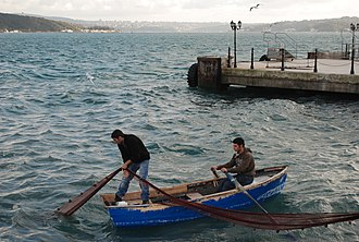 Sarıyer - Fishermen in Sarıyer's harbour
