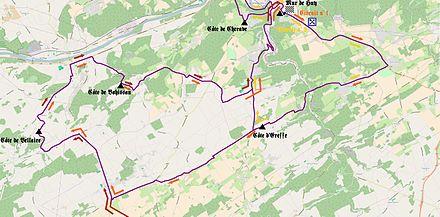 Carte géographique représentant les circuits locaux.