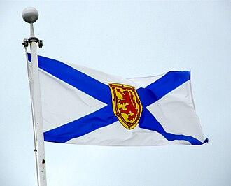 Flag of Nova Scotia - The Flag of Nova Scotia flying
