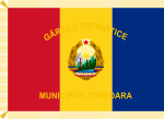 Flag of Patriotic Guards of Romania (1977-1989, reverse).svg