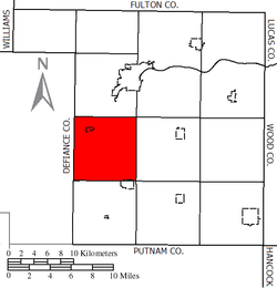 Location of Flatrock Township in Henry County