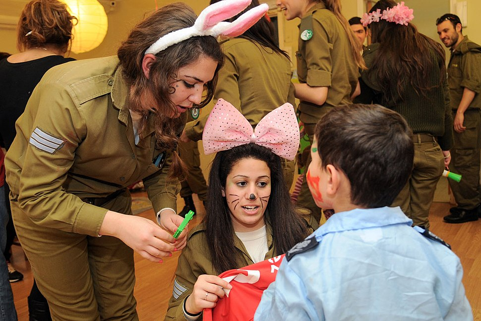 Flickr - Israel Defense Forces - Soldiers Celebrate Purim with At-Risk Children