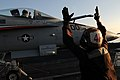 Flickr - Official U.S. Navy Imagery - A plane captain signals to the pilot..jpg
