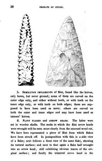 Discovery of human antiquity - Page showing flint implements from Guide to Northern Archæology (1848), English translation by Francis Egerton, 1st Earl of Ellesmere, from the Danish Ledetraad til Nordisk Oldkyndighed (1836) of Christian Jürgensen Thomsen.