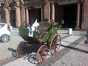 Electric car - Flocken Elektrowagen, 1888 (reconstruction, 2011)