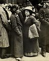 Flora Drummond outside Bow Street, c.1908. (22910629372).jpg
