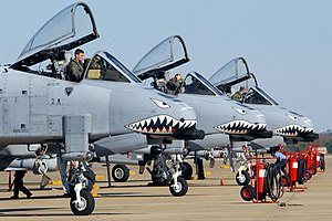 23d Fighter Group - 23rd Fighter Group A-10 Thunderbolt IIs on alert