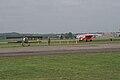 Fokker DVII Ernst Udet Taxi out past Nieuport 23 Edmonde Thieffry Dawn Patrol NMUSAF 26Sept09 (14413491507).jpg