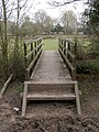 Footbridge across Mill Lawn Brook, Redrise, New Forest - geograph.org.uk - 425892.jpg