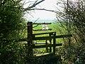 Footpath entrance, No Parish Farm - geograph.org.uk - 1234417.jpg
