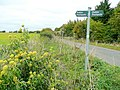 Footpath sign near Eastington - geograph.org.uk - 1515314.jpg