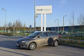 Ford Sollers - Ford Focus 3 facelift in front of the Vsevolozhsk Factory