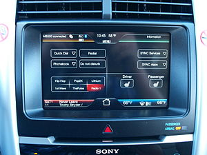 English: Ford MyFord Touch system, combined wi...