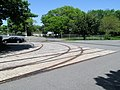 Former streetcar junction near Suffolk Downs, May 2012.JPG