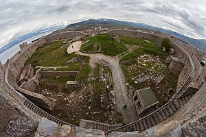 Samuel's Fortress, Ohrid - Image: Fortaleza de Samuel, Ohrid, Macedonia, 2014 04 17, DD 49