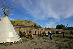 English: Photo of Fort Whoop Up National Histo...