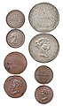Franc of the Principality of Lucca and Piombino - Complete Type Set.jpg