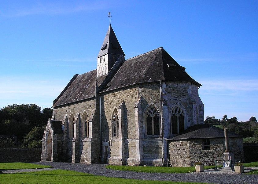 Sainte-Suzanne-sur-Vire (Normandie, France). L'église.