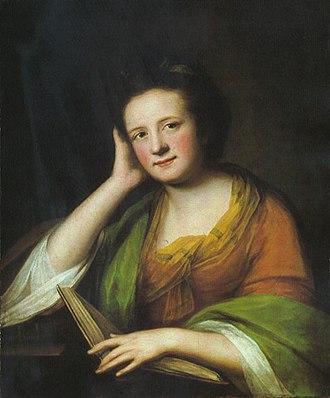 Catherine Read - Read's portrait of Frances Moore Brooke, circa 1771