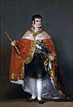 Francisco Goya - Portrait of Ferdinand VII of Spain in his robes of state (1815) - Prado.jpg