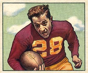 Frank Spaniel - Spaniel on a 1950 Bowman football card