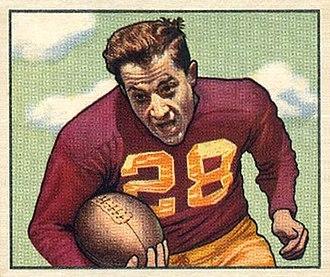 Frank Spaniel - Spaniel on a 1950 Bowman football card
