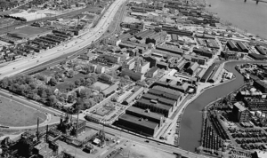 Frankford Arsenal - Aerial view to the northeast (1978)
