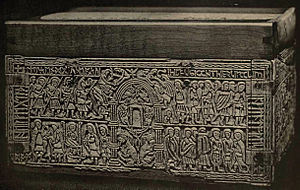 The Bible and slavery - Frank's casket is an 8th century whale bone casket, the back of which depicts the enslavement of the Jewish people