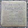 Stolperstein für Franz Acker
