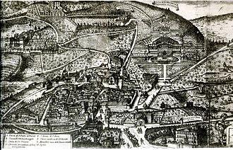 Frascati - Print of Matteo Greuter (1620).