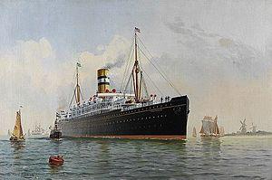 SS Potsdam (1900) - Image: Fred Pansing Potsdam 1910