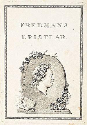 Fredmans epistlar - Image: Fredmans Epistlar frontispiece