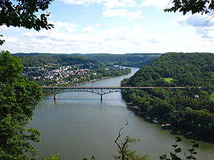 Allegheny River - The Allegheny River, looking upstream at Freeport, Pennsylvania