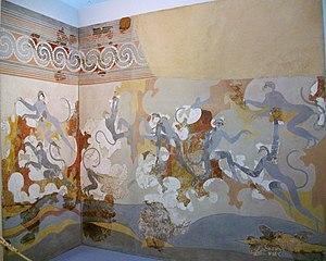 Fresken der blauen Affen