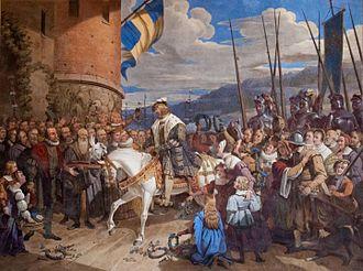 1523 in Sweden - Fresco 5 - Intaget i Stockholm 1523