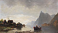 Friedrich Ernst Morgenstern Seelandschaft in der Abenddämmerung 1890.jpg