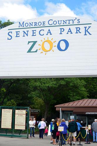 Seneca Park Zoo - Image: Front of Seneca Park Zoo, Rochester, NY