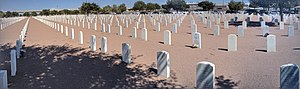 Fort Bliss National Cemetery - Panoramic view of a northeast portion of the cemetery
