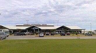Fuaʻamotu International Airport - Passenger terminal of Fuaʻamotu International Airport, seen from the front