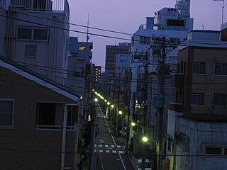 Fukagawa, Tokyo District in Tokyo, Japan
