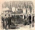Funérailles de Rossini - Dépôt du cercueil dans le caveau de la Ville, au cimetière du Père-Lachaise (cropped).jpg