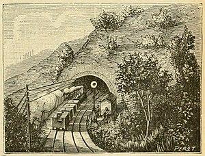 Chemin de fer de Lyon à la Méditerranée - Tunnel de la Nerthe to the north of Marseille