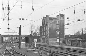 Grande Ceinture line - The station at Bobigny in 1984