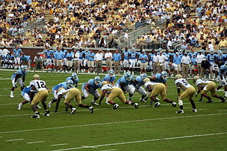 2009 North Carolina Tar Heels football team - Image: GT v UNC 2009
