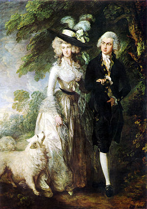 1775–95 in Western fashion - Thomas Gainsborough, The Morning Walk (Portrait of Mr and Mrs William Hallett), 1785.