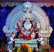 Laxmi idol at Bhubaneswar during (Laxmi Puja) Festival
