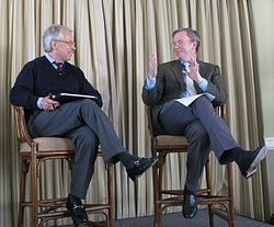 Gary Hamel and Eric Schmidt at MLab dinner.jpg