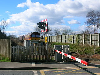 Gatehead railway station - A coal train from the 'Troon' end of the line